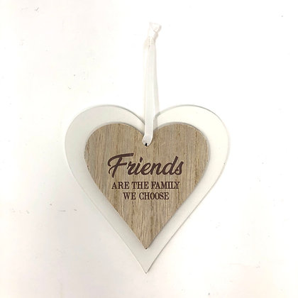 Friends Double Heart Plaque