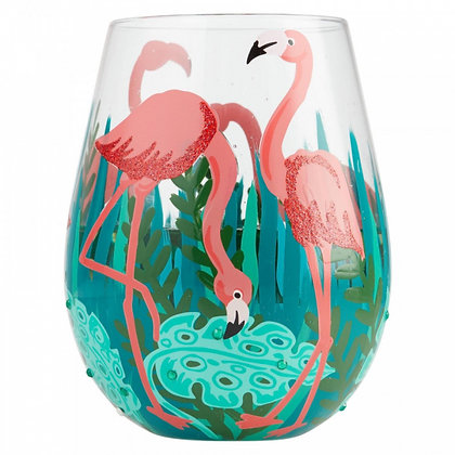 Lolita Fancy Flamingo Glass