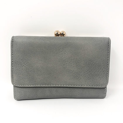 Grey Twist Clasp Purse