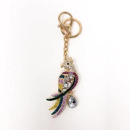 Bling Parrot Keyring/Bag Charm