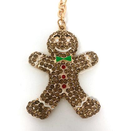 Gingerbread Man Key Ring/Bag Charm
