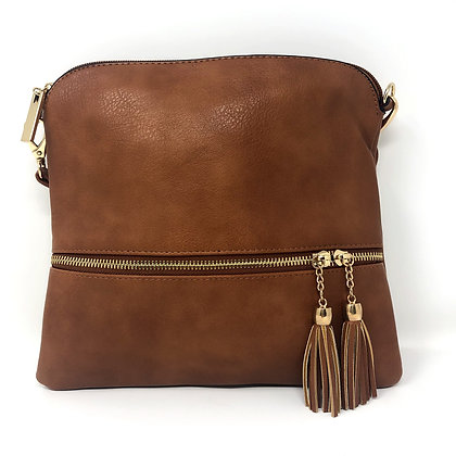 Tassle Crossbody Bag Tan