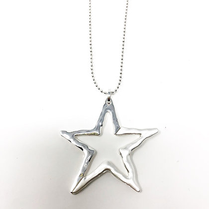 Long Cut Out Star Necklace