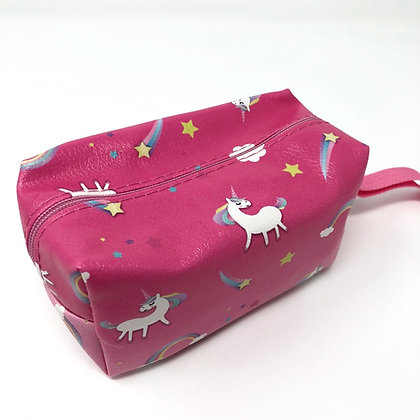 Pink unicorn makeup bag