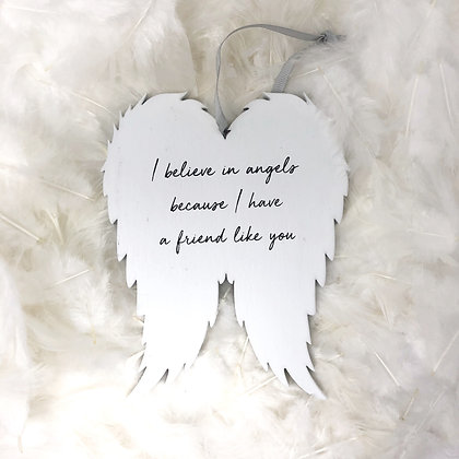 Angel wing plaque friend