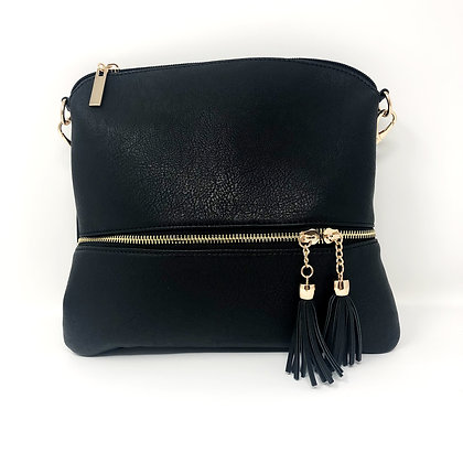 Tassle Crossbody Bag Black