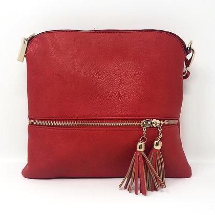 Tassle Crossbody Bag Red