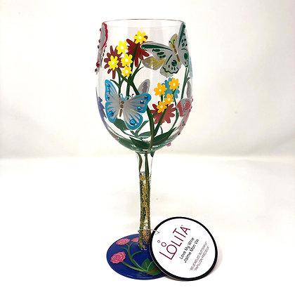 Lolita Bejeweled Butterfly Wine Glass