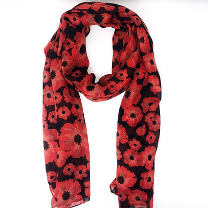 New Black Poppy Scarf