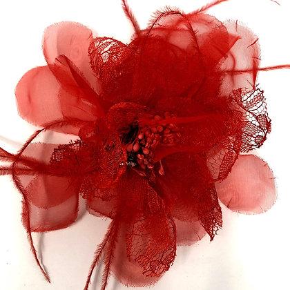 Small Red Fascinator Clip/Brooch