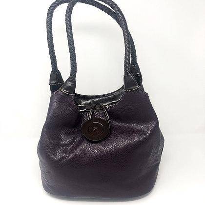 Purple Button Bag