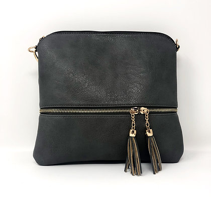 Tassle Crossbody Bag Grey