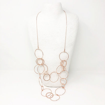 Rose Gold Circle Chain Necklace