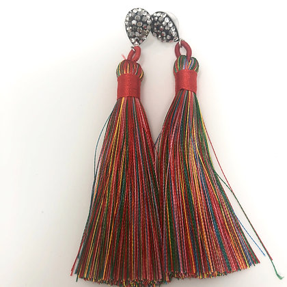 Long Rainbow Drop Earrings
