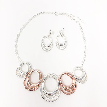 Circle Necklace & Earring Set