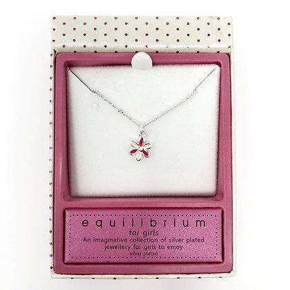 Equilibrium Pink Flower Girls Necklace