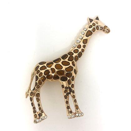 Large Giraffe Brooch