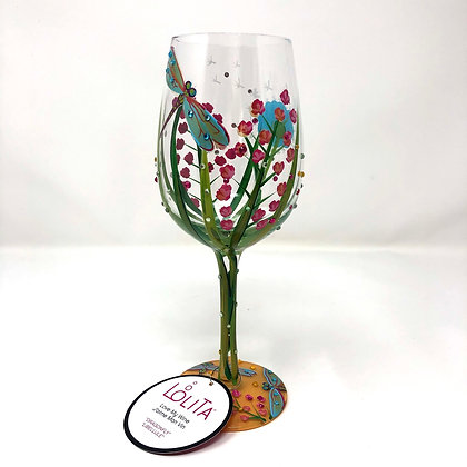 Lolita Dragonfly Wine Glass