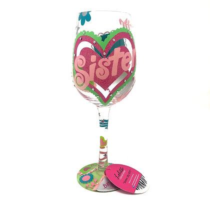Lolita Sister...My BFF Wine Glass