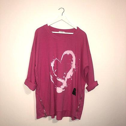 Hot Pink Heart Top