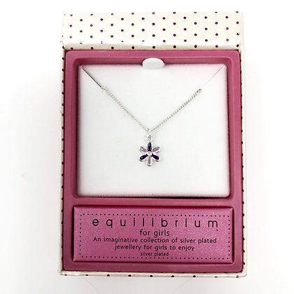 Equilibrium Purple Flower Girls Necklace