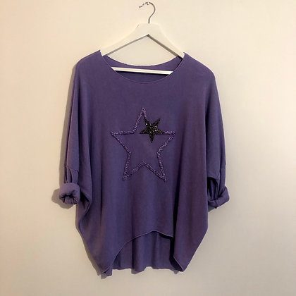 Lilac Star Top