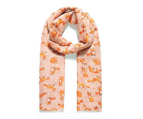 Mrs Foxy print scarf