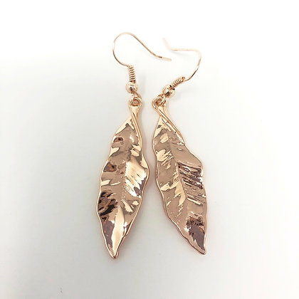 Rose Gold Leaf Earrings