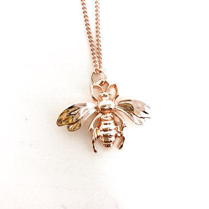 Bumble Bee Pendant Necklace