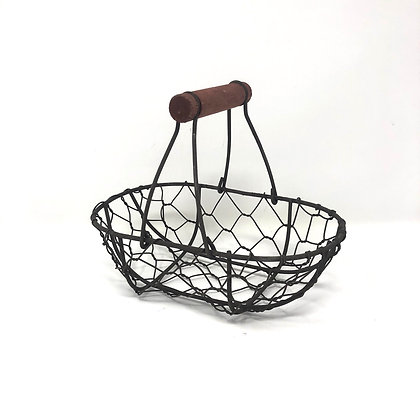 Small Wire Oval Basket