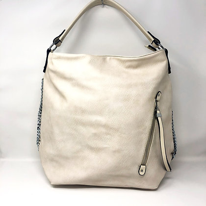 Cream Hobo Shoulder Bag