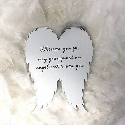 Guardian angel wing plaque