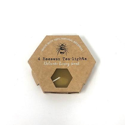 Set of 4 Beeswax Tealights