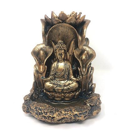 Bronze Buddha Backflow Incense Burner