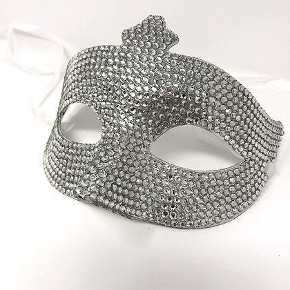 Silver Diamante Masquerade Mask