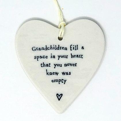 Grandchildren Hanging Heart