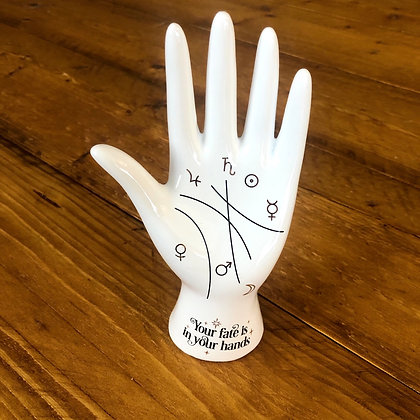 White Palmistry Hand Ornament