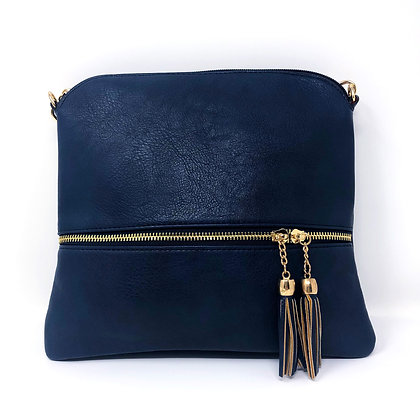 Tassle Crossbody Bag Navy