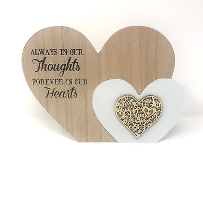 Large Always In Our Thoughts Heart Block