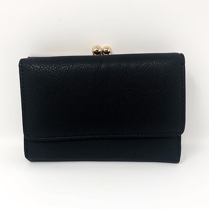 Black Twist Clasp Purse