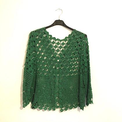 Green Crochet Cardi Jacket