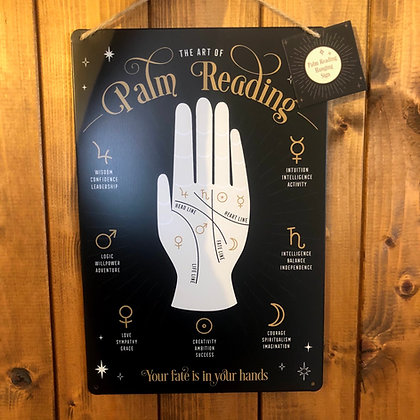 Palm Reading Metal Sign