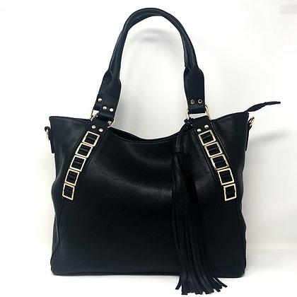 Black Tassel Shoulder Bag
