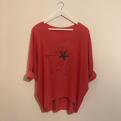 Coral Star Top