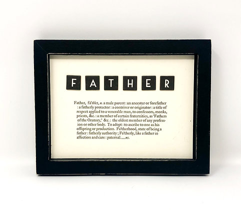 Rustic Frame Father Picture Verse