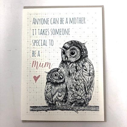 Mum Owl Card