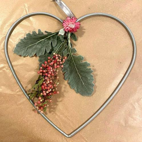Wire Heart Wreath