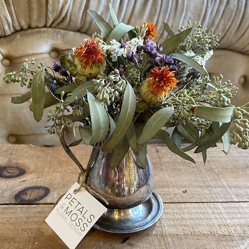 Vintage Dried Floral Arrangement