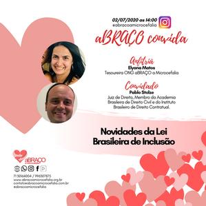 aBRAÇO Convida faz live sobre Lei Brasileira de Inclusão
