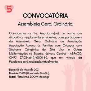 Convocação Assembleia Geral Ordinária em 10/05/2021